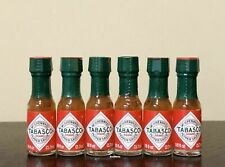 TABASCO Brand Pepper Sauce 6 Hot Sauce Miniature Mini Bottle 1/8oz Fresh Sealed