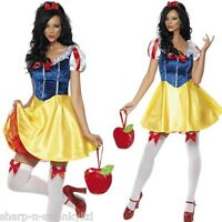 Ladies Sexy Snow White Disney Princess Fairytale Fancy Dress Costume Outfit 4-18