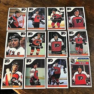 1985-86   O-Pee-Chee  PHILADELPHIA FLYERS 12   card team  lot
