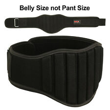 """Weight Lifting Belt Gym Back Support Fitness 8"""" Wide Workout Black, S"""