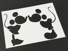Disney Themed MICKEY MOUSE MINNIE Silhouette Stencils Party Decoration Craft Art