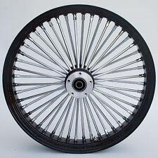 """Black/Chrome Ultima 48 King Spoke 26"""" x 3.5"""" Front Wheel for Models 2000-2006"""