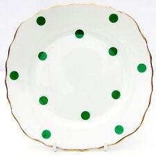 Vintage Royal Vale Bone China Polka Dot Green Spot Tea Plate