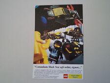 advertising Pubblicità 1988 LEGO SPAZIO