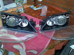 Ford Mondeo Mk3 Xenon Headlight Headlamp Shrouds Lenses Bulb Holders Set 2