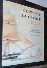 Corvette La Créole 1837 14 planches au 1/48e 1 planche au 1/84e Boudriot 1990