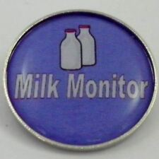Milk Monitor Metal Pin Badge With Brooch Fitting