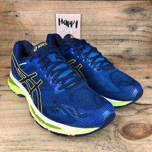 ASICS Gel-Nimbus 19 Men's Blue/Yellow Running Gym Trainers Shoes Size UK10 EU45