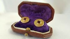 Antique (1864-1919) 18K Gold & Rhodolite Garnet Shirt Fasteners/Cufflinks
