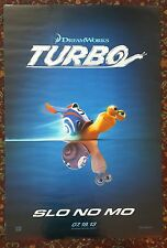 TURBO Movie Poster 27x40 2-Sided Authentic Teaser Version
