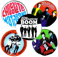 CHOCOLATE WATCHBAND, SONICS, SEEDS, STANDELLS  & ? AND THE MYSTERIANS BADGES.