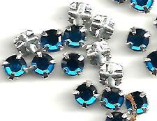 36 Swarovski Crystal Capri Blue Rose Montees 10SS 3.2 mm SMV8