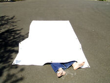 Vinyl Tarp, White, 5' X 9' Heavy Duty, Durable, Waterproof