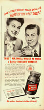 1947 Vintage ad for Maxwell House Coffee/Good To the Last Drop (051513)