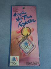 Vintage 1984 LOS ANGELES OLYMPICS Keychain Acrylic Stars NIP SEALED!