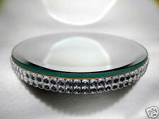 Mirror - Round Bevelled Edged -13.2cm with beaded edging.