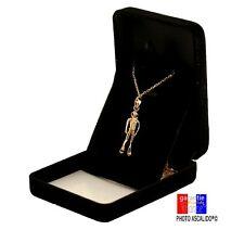 Pendentif Plongeur en plaqué or véritable avec chaine pour homme et boite cadeau