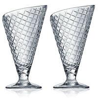 Bormioli Rocco Gelato Sundae Fruit Cream Dessert Ice Glassware Bowl Cone Glasses