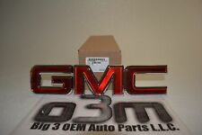 GMC Sierra Savana Yukon Red And Chrome Front Grille Emblem OEM new