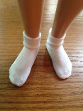 """Two pair white ankle socks for 14"""" Kish Lark Chrysalis"""