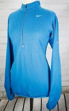 NIKE RUNNING Element Thermal Half Zip Fitness Jacket Womens M Blue Triangles