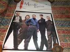 Celebrity posters;MODERN ENGLISH..PROMOTIONAL USE ONLY POSTER-1984-SIRE RECORDS