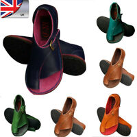 Women PU Leather Comfy Flat Sandals Ladies Slip On Mule Shoes Bunion Corrector W