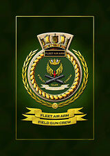 FLEET AIR ARM FIELD GUN FRAMED SHIPS BADGE/CREST - HUNDREDS OF HM SHIPS IN STOCK