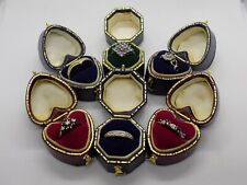 6X 9CT GOLD RINGS. DIAMOND, SAPPHIRE, GEMSTONE, ETC. 7.9 GRAMS. RESALE JOBLOT.