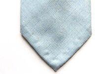 Battisti Tie Pale light blue herringbone, pure cashmere