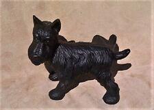 NAUGHTY SCOTTIE DOG cast iron PEEING SCOTTY DOOR STOP Westie Terrier