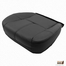 2009 2010 Chevy Suburban 1500 Driver Replacement Bottom Leather Seat Cover Black