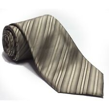 "Kenneth Cole New York Men Dress Silk Gray Stripes Tie 3.25"" wide 58"" long"