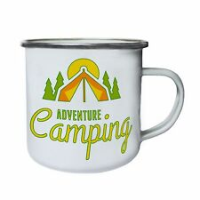 Adventure Camping Tent in The Forrest Retro,Tin, Enamel 10oz Mug aa667e