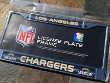 """1 Los Angeles Chargers """"Glitter - Bling"""" Metal Vehicle License Plate Frame"""