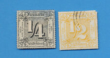 Germany THURN & TAXIS - scott  27 unused & 29 used  Rouletted Colored Lines 1866