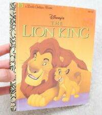 A Little Golden Book Walt Disney's The Lion King 1994 Children's Simba Mufasa