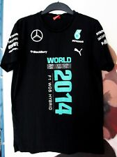 Official 2014 Mercedes AMG F1 Team Issue Hamilton World Champion Puma Shirt L