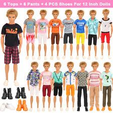 Barwa 6 KEN clothes + 3 pants + 3 dress + 4 KEN shoes + 5 Barbie shoes
