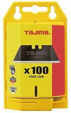Tajima VRB2-100B V-REX II Premium Tempered Steel Utility Knife Blades, 100-Pack