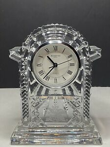 """Vintage Anheuser Busch Waterford 7.25"""" Crystal Clock"""