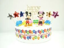 CAKE topper Figura Decorazione Compleanno-Mickey & Minnie Mouse-Set di decorazione