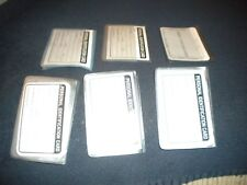 BRAND NEW LOT OF 6 PLASTIC INSERTS FOR  TRIFOLD  WALLETS