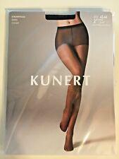 Kunert Transparent Matt Sheer Tights Pantyhose W/  Dots Sz lV 44-46 Black