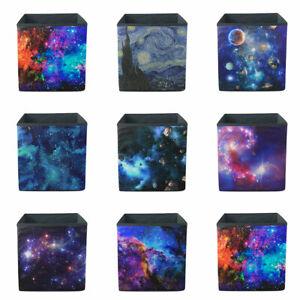 Galaxy Foldable Fabric Cubby Cube Closet Organizer Cloth Cube Basket Bins Home
