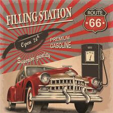 Metal Tin Sign route 66 filling station Bar Pub Vintage Retro Poster  30*30 cm