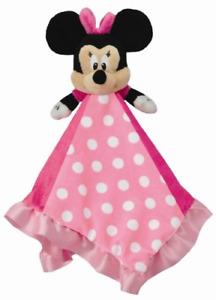 Disney Baby Minnie Mouse Plush Stuffed Animal Snuggler Blanket - Pink