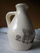 Handmade Stoneware Maple Syrup Jug / Turkey Hill Farm / Brome Quebec 3729