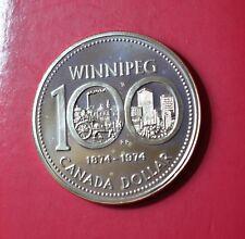CANADA, 1 DOLLAR 1974, WINNIPEG, Silver Coin        [#7218]