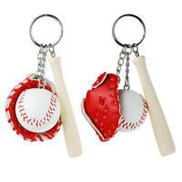For Gift Car Chain Ring Charm Pendant Keychains Softball Baseball Keyring